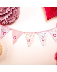 Make Your Own Girls Name Ditsy Bunting - Button together Triangles Sasse & Belle